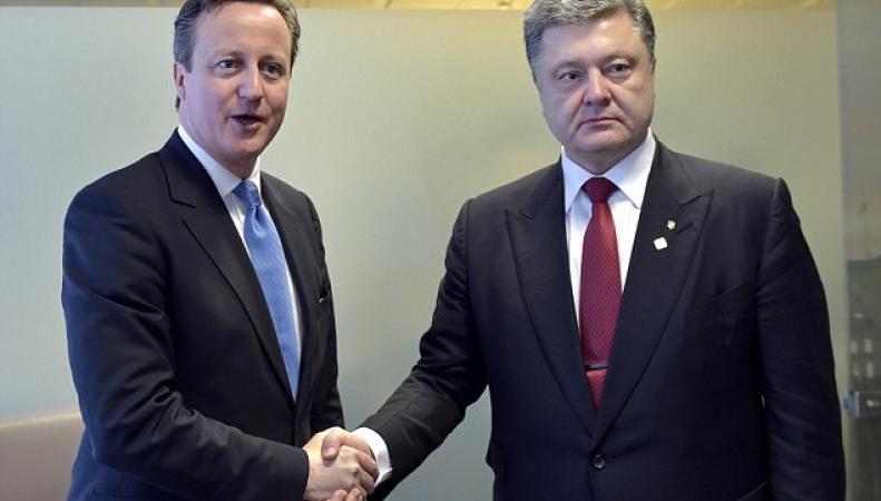 Кэмерон и Порошенко перед саммитом ЕС в Брюсселе