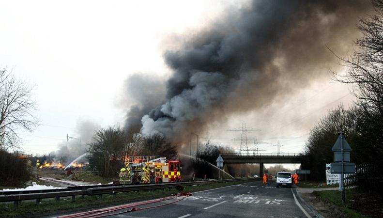 Пожар в Эссексе