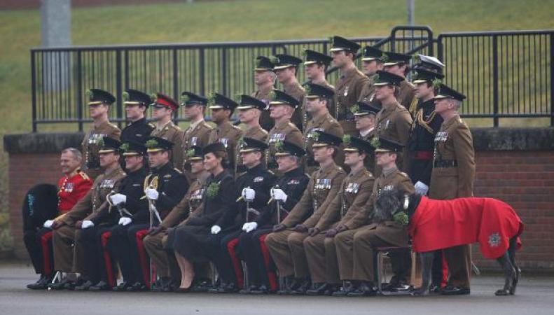 Ирландские гвардейцы в День Святого Патрика