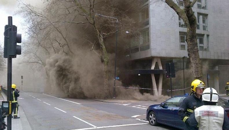 Пожар в центре Лондона