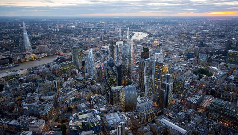 Вид на центр Лондона