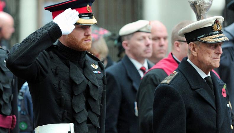 принц Гарри и герцог Эдинбургский
