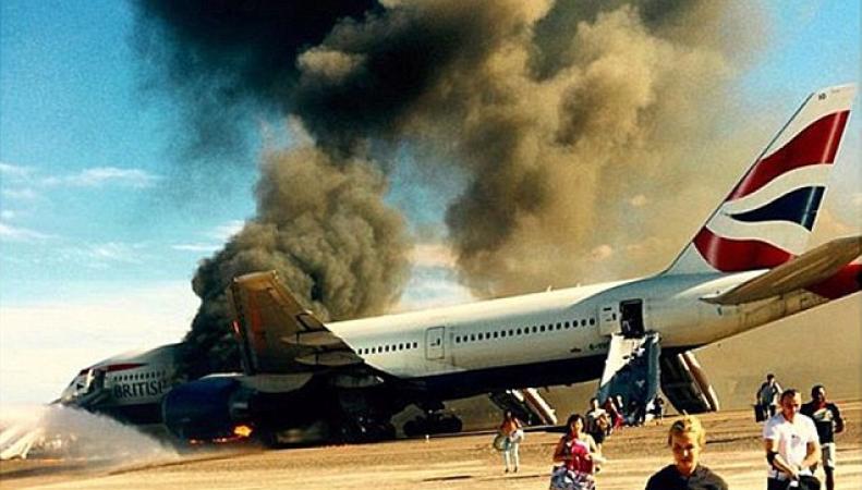 Пожар на борту British Airways в Лас-Вегасе