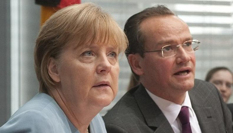 Ангела Меркель и Гюнтер Крихбаум