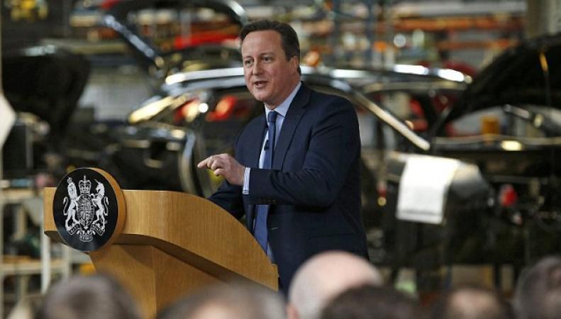 Кэмерон на встрече с избирателями