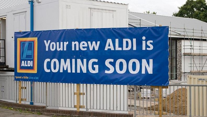вывеска Aldi