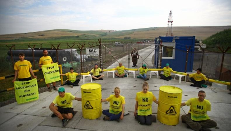 Пикет представителей Greenpeace