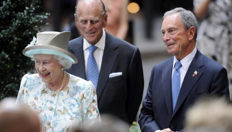 Королева Елизавета II, принц Филипп и Майкл Блумберг