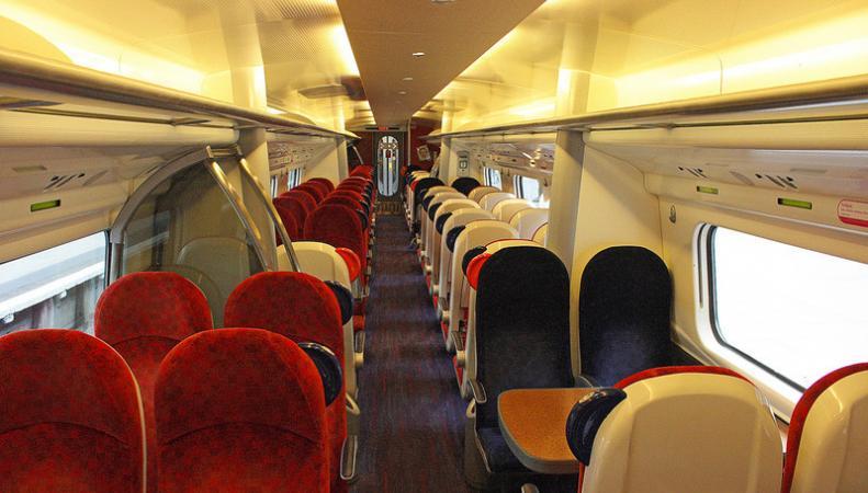 салон поезда Virgin
