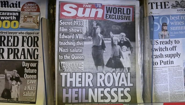 скандальная обложка The Sun