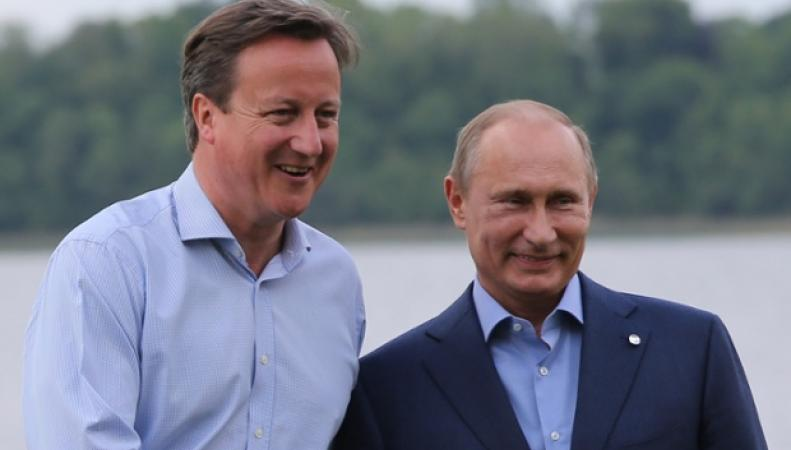 Дэвд Кэмерон и Владимир Путин