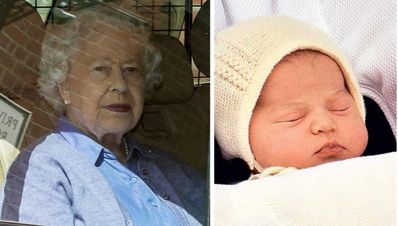 Королева Елизавета II и принцесса Шарлотта