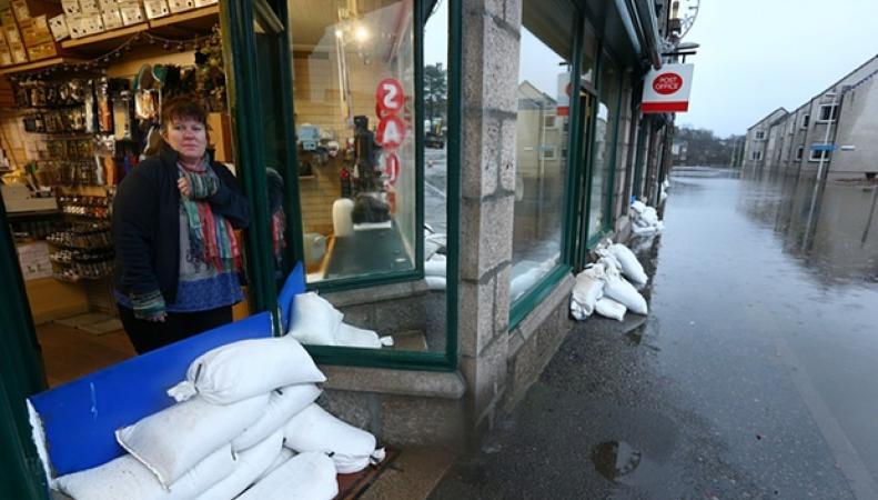 наводнение на границе Шотландии и Англии