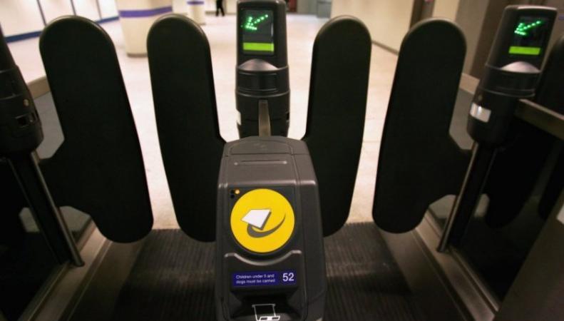 турникет в лондонском метро
