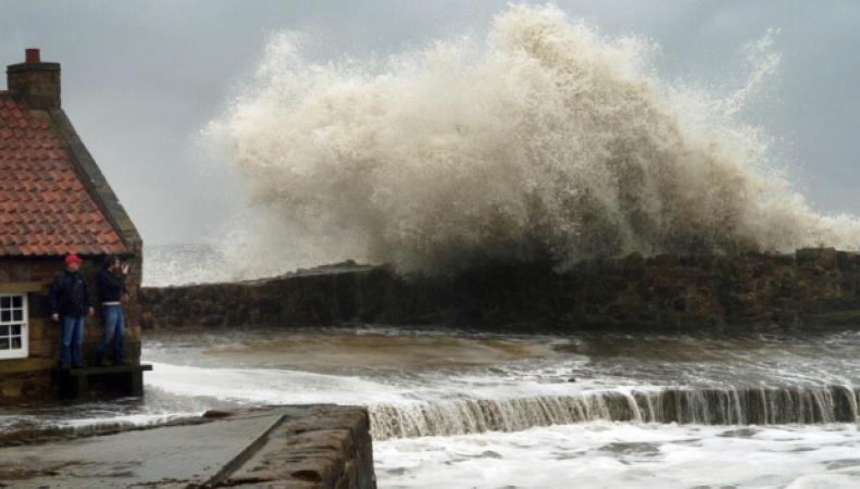шторм в Шотландии