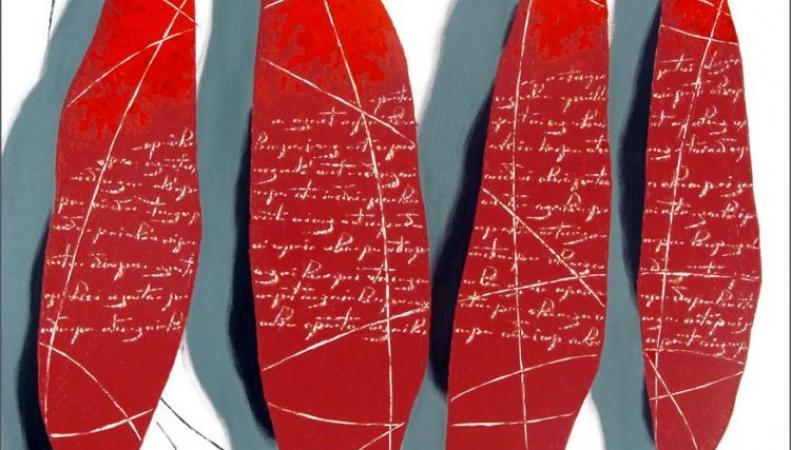 Работы Александра Олигерова на выставке в Лондоне