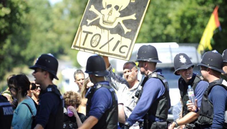 В Британии протестуют против разработок сланцевых месторождений