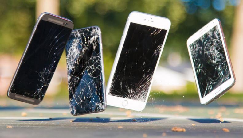 разбитые смартфоны