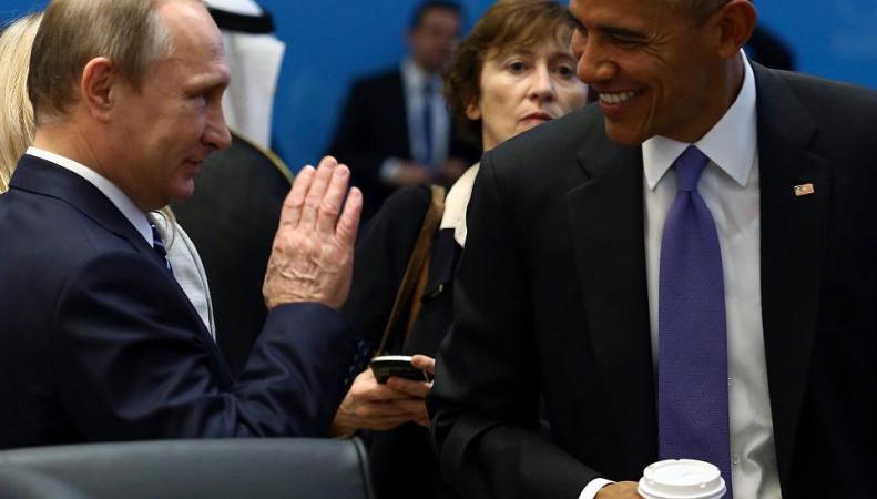 Путин и Обама на саммите G20