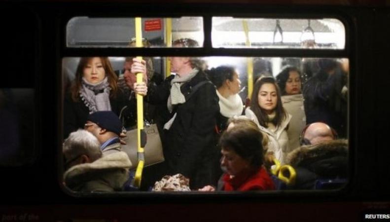 лондонское метро в час-пик