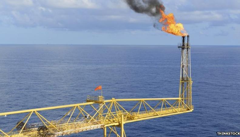 Нефтяная платформа в Северном море