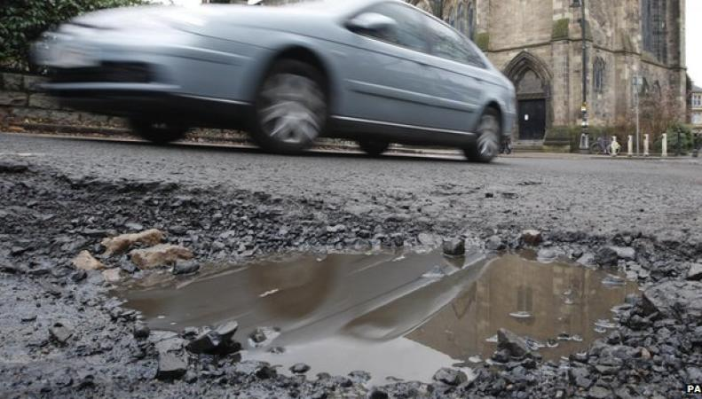 Ремонт дорог в Англии