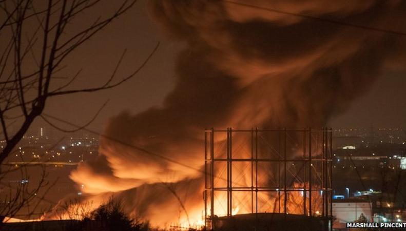 пожар в промзоне Лондона