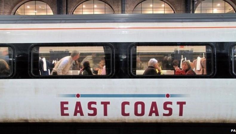 Поезд на маршруте East Coast