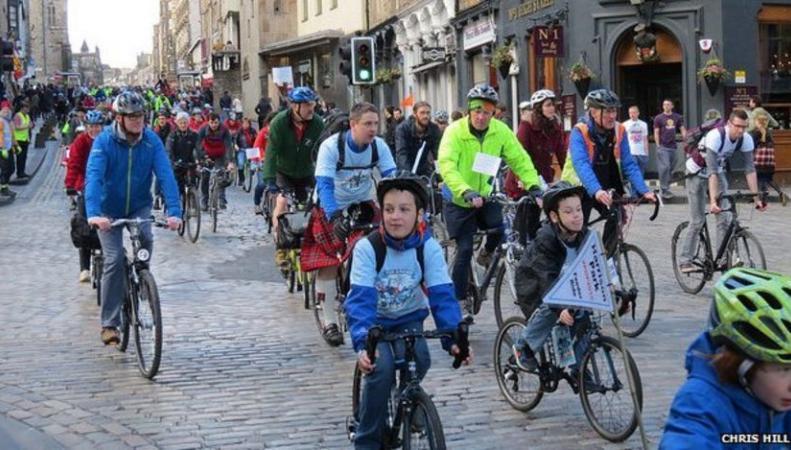 Велопробег в Эдинбурге