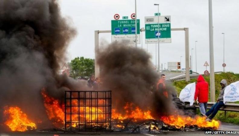 забастовка паромщиков в Кале