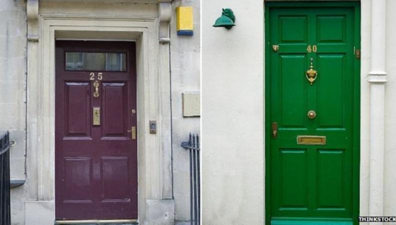 Входные двери с номерами