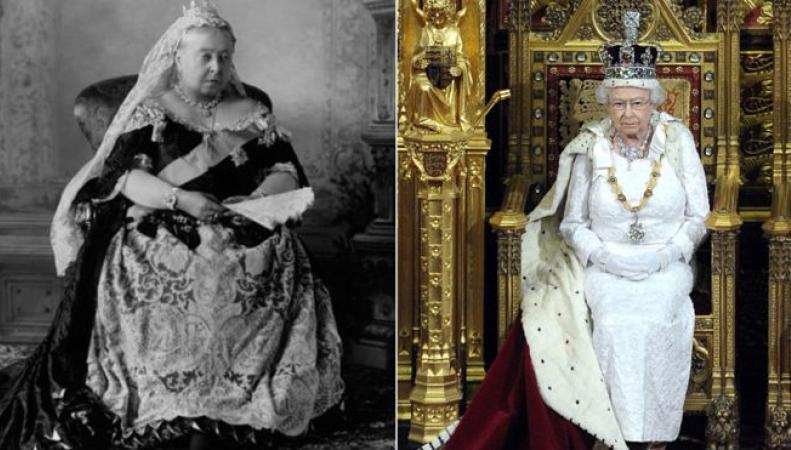 королева Виктория и королева Елизавета II
