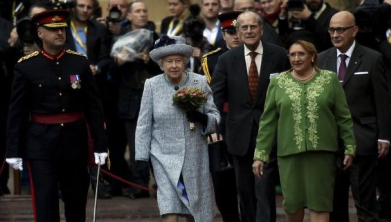 королева Елизавета II и президент Мальты