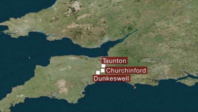 карта западной Англии