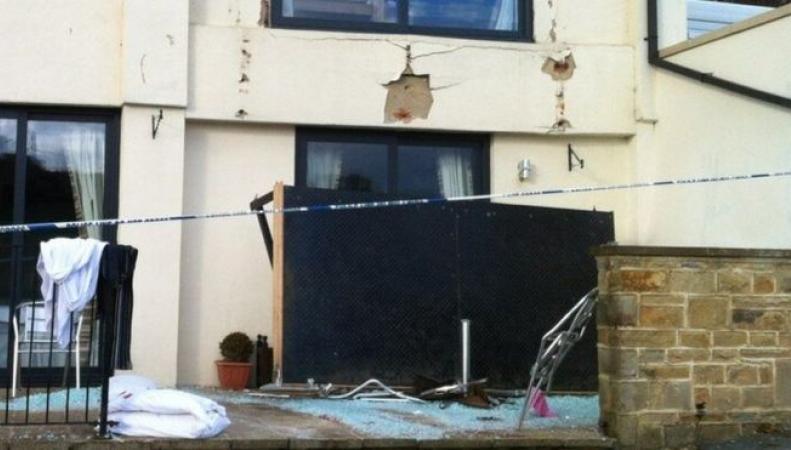 Обрушение балкона в отеле