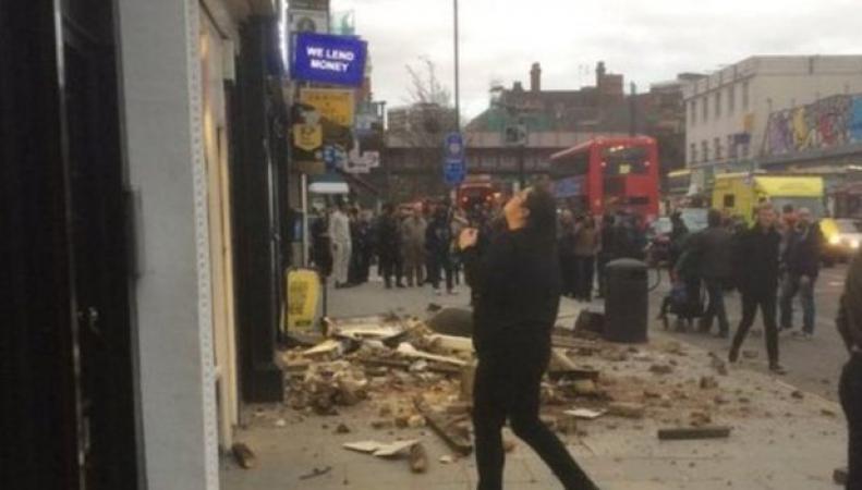 обрушение крыши здания в Фулхэме
