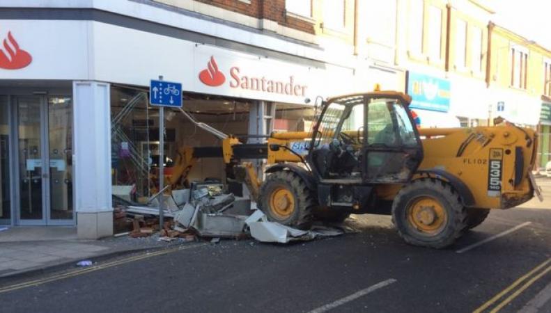 нападение на офис Santander