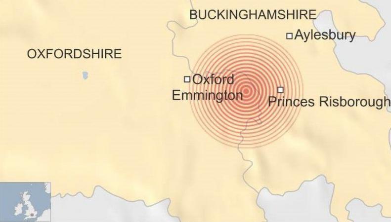 землетрясение в Англии