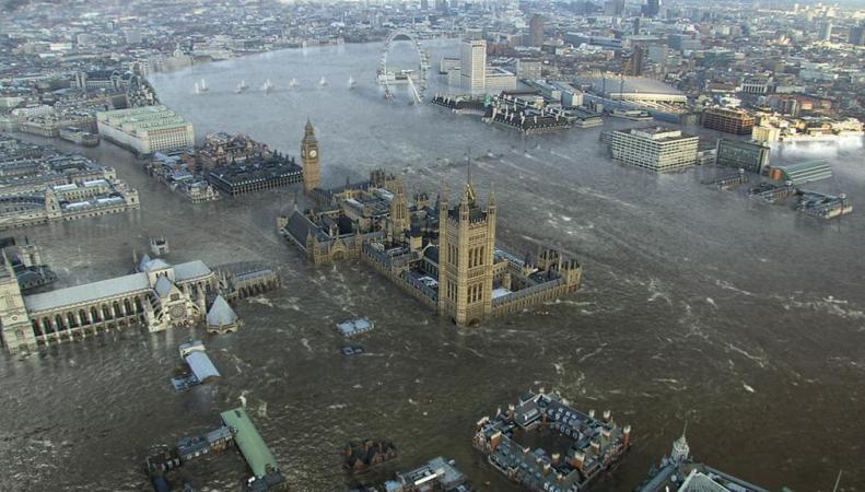 Лондон вместе с другими городами Европы уйдет под воду