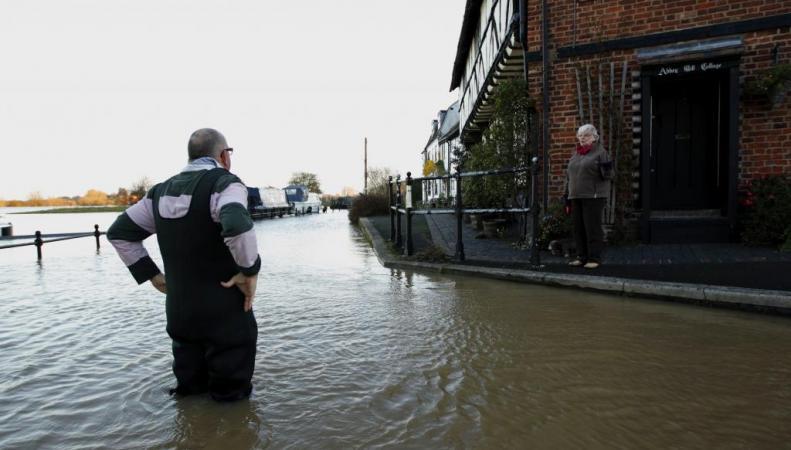 Ущерб от наводнения в Британии