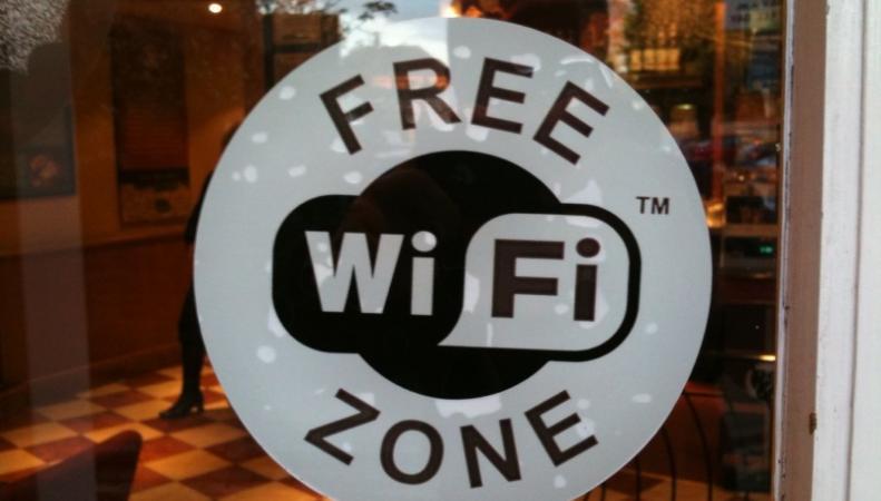 бесплатный Wi-Fi  в кафе