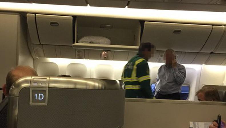 инцидент с рейсом АА109 Лондон-Лос-Анджелес