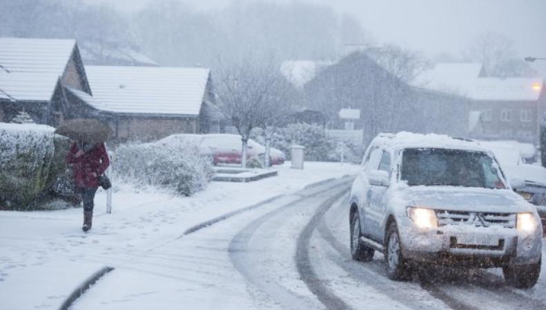 снегопад 4 марта на севере Англии