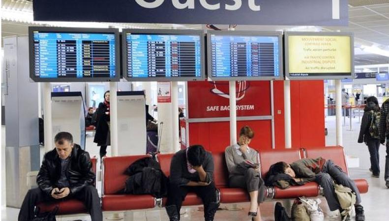 забастовка авиадиспетчеров во Франции