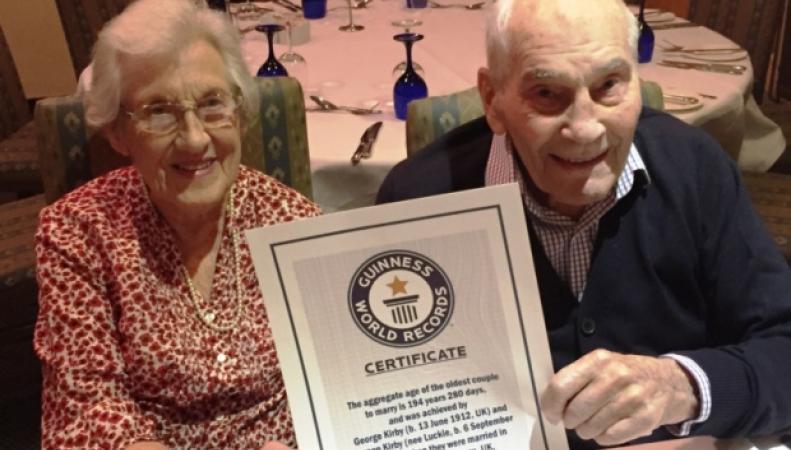 Джордж Кирби и Дорин Лаки - самые старые молодожены