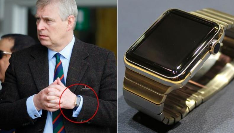 часы Apple Watch покрыты золотом