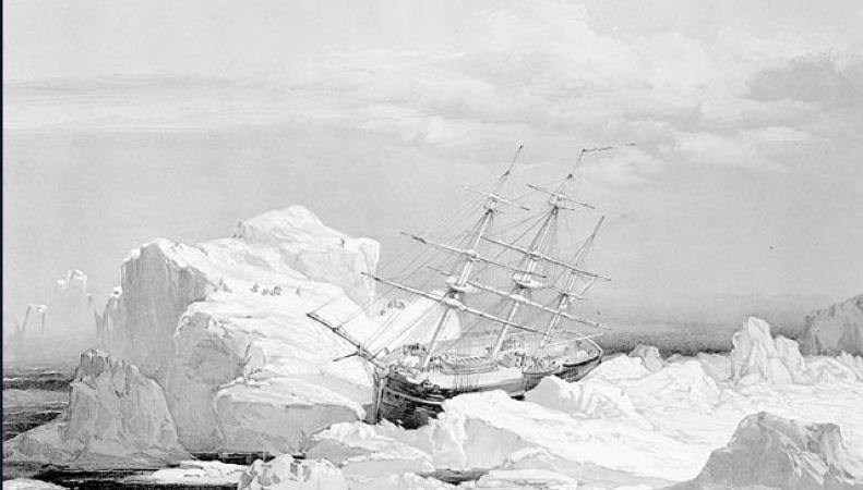Исследовательское судно в Арктике