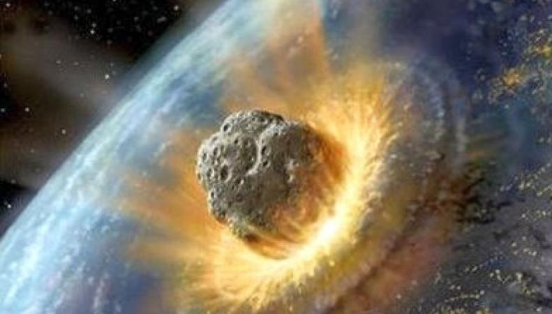 Астероид, столкновение