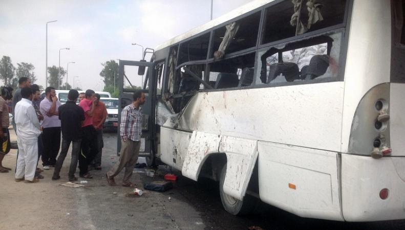 Автобус в Египте после ДТП