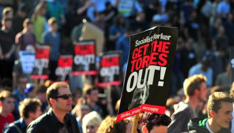 Акция протеста в Бристоле